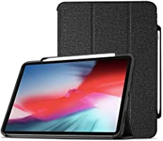 ProCase Slim Case for iPad Pro 11 2018 Support Apple Pencil Charging, Lightweight Smart Shell Folio Stand Cover Case with...