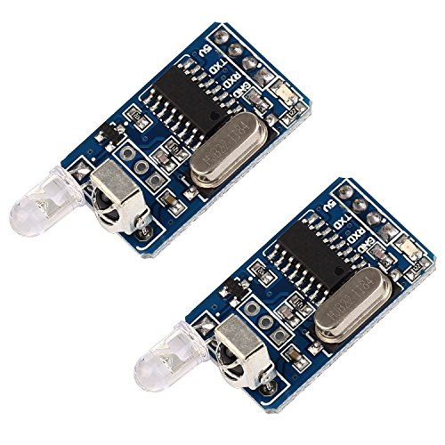 Icstation IR Infrared Transceiver Decoder Module TTL Communication Remote Control for Arduino (Pack of 2)