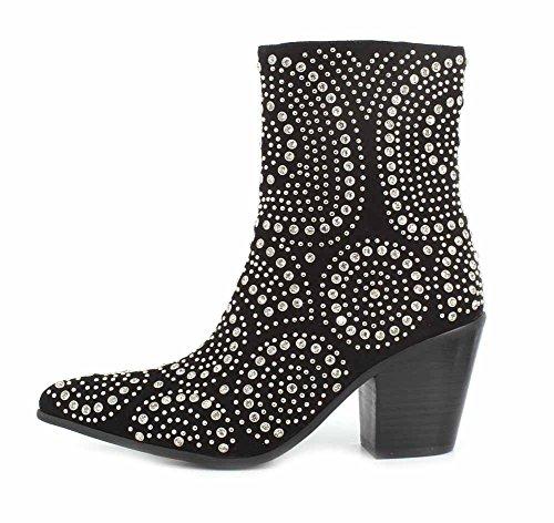 Jeffrey Campbell Womens Ace-SJ Boot Black Suede Silver lJ1ph