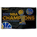 Rico NBA Golden State Warriors 2017 Basketball Champions Banner Flag, 3-foot x 5-Foot, RoyalBlue, Gold