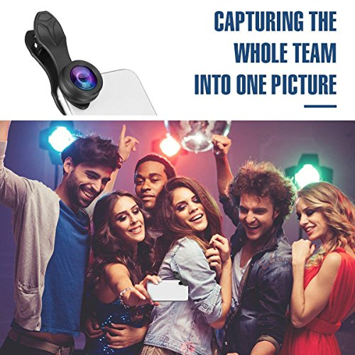 Phone Camera Lens,3 in 1 Phone Lens,0.36X Super Wide Angle Lens+15X Macro Lens+230°Fisheye Lens 3 in 1 HD Cell Phone Camera Lens Kit for iPhone X/8/8Plus/7/7 Plus/6s/6/5, Samsung and Most Smartphones by ChenChung Direct (Image #6)
