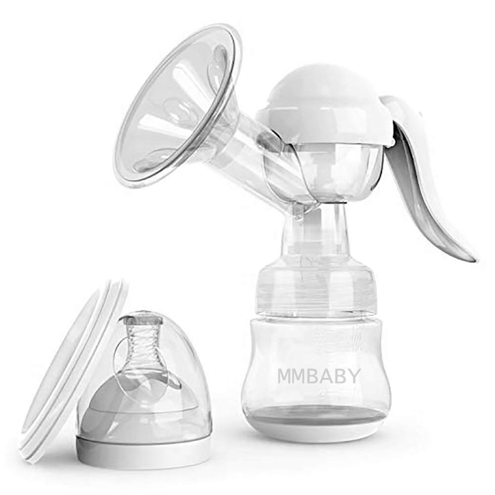 MMBABY Manual Breast Pump,Portable Breast Pump Breastfeeding Food Grade BPA Free Manual Pump with Lid Portable Milk Saver for Breast Feeding by MMBABY