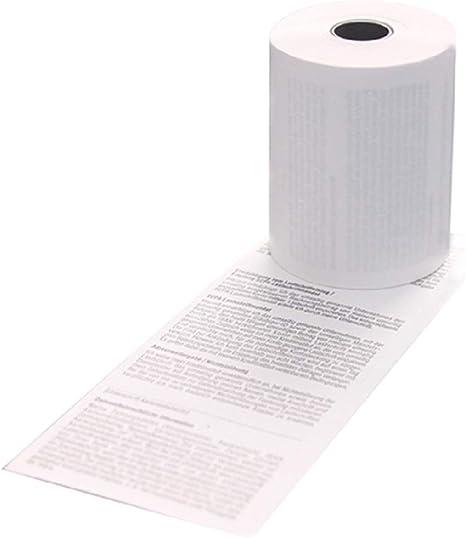 BPA zertifizierte HKR-Welt/® Bonrollen aus Thermopapier Bisphenol-A Thermo Kassenrollen 57//18//12 /Ø 40mm 50 Thermorollen f/ür Star SM-S230i frei