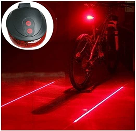 Waterproof MTB Bicycle Spider Laser Rear Light Night Cycling Safety Warning