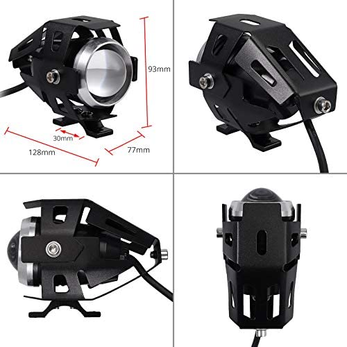 Justech 2 X Motorrad Scheinwerfer Mit Schalter Motorrad Elektronik