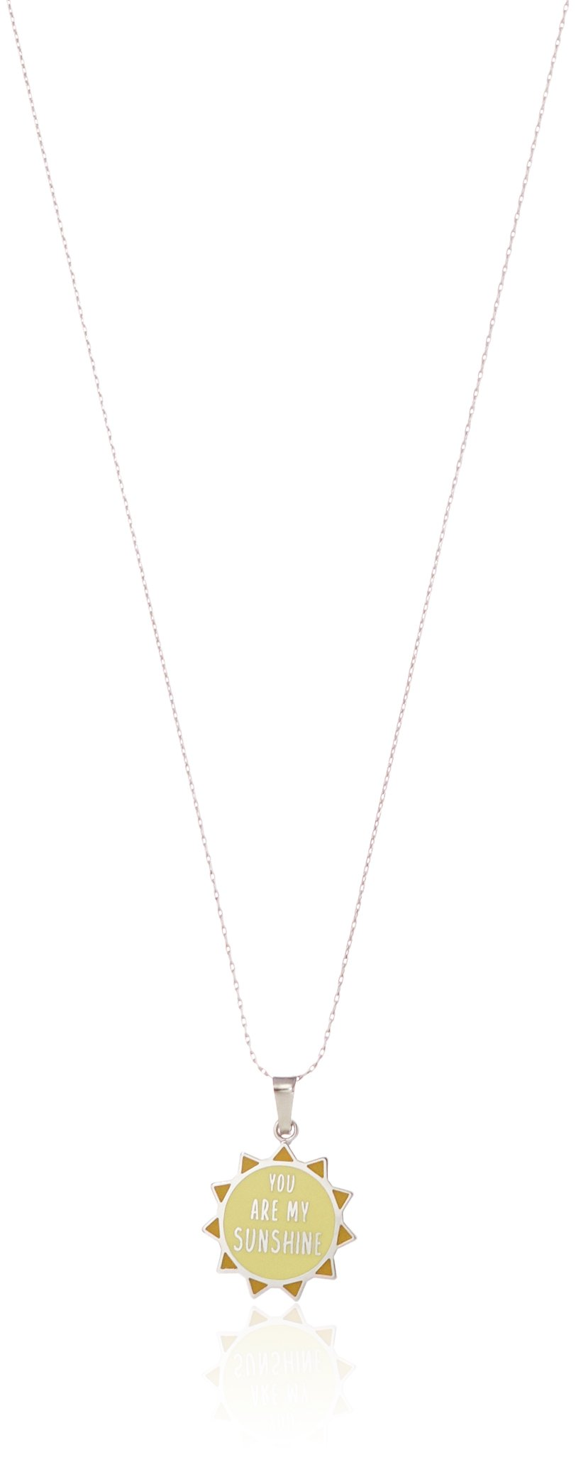 Alex and Ani Women's Charity By Design You Are My Sunshine 32'' Expandable Necklace Shiny Silver One Size