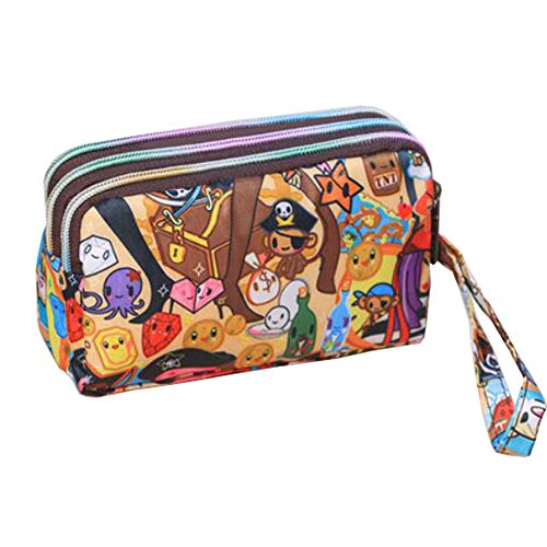 Ladies Fashion Small Card Case Wallet Change Coin Purse Pouch Bag with Zipper, Prosperous City by Lanburch (Image #6)
