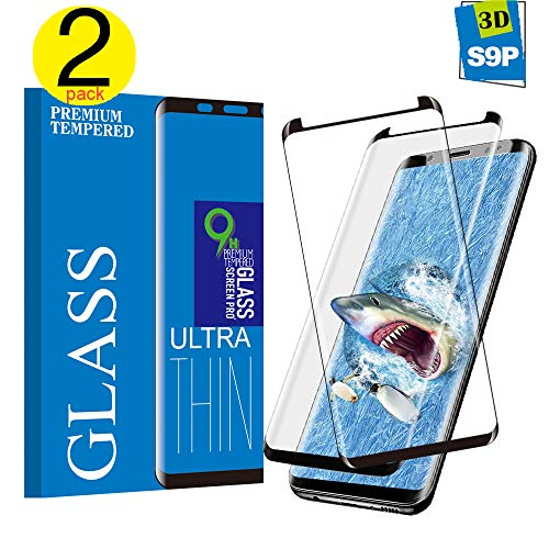 Screen Proetctor for Galaxy S9 Plus, Cavalrywolf [2-Pack] Premiun 3D Tempered Glass [Full Coverage] [Scratch Terminator] [Ultra Clear] [9H Hardness] Screen Protector for Samsung Galaxy S9 Plus