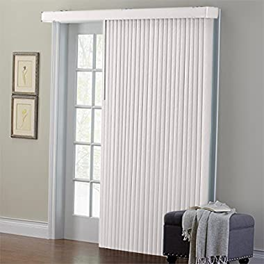 Brylanehome Embossed Vertical Blinds (Putty,66  W 84  L)