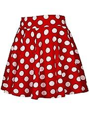 GAGA المرأة مطوي مرونة منقوشة التنانير المدرسية الفتيات تنورة قصيرة A