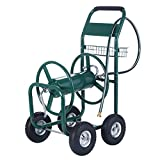 Gracelove Garden Water Hose Reel Cart 300FT Outdoor Heavy Duty Yard Planting W/Basket New