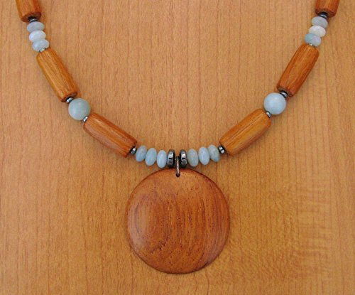 Bayong Wood Round Pendant Necklace