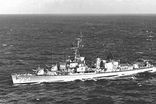 Home Comforts Laminated Poster The U.S. Navy Destroyer USS Laffey (DD-724) underway in 1964.