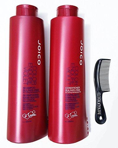 (Joico Color Endure Violet- No Sulfates Shampoo and Conditioner Liter DUO 33.8 Oz )