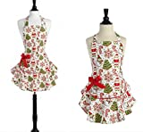 Holiday Cookies Jessie Steele Josephine Bib Apron Mother Daughter 2 Pc Christmas Holiday Gift Set
