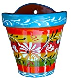 Wall Flower Pot (Spanish Rainbow) – Hand Painted in Spain For Sale