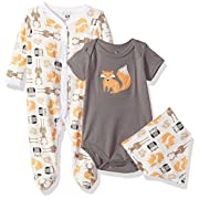Hudson Baby Baby Multi Piece Clothing Set, Woodland Creatures 3 Piece, 6-9 Months