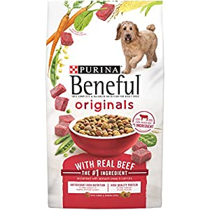Make mealtime for your dog as tasty as it is nutritious with Purina Beneful Originals With Real Beef adult dry dog food. With real farm-raised beef as the first ingredient, these meaty bites deliver high-quality protein to support strong muscles. Who...