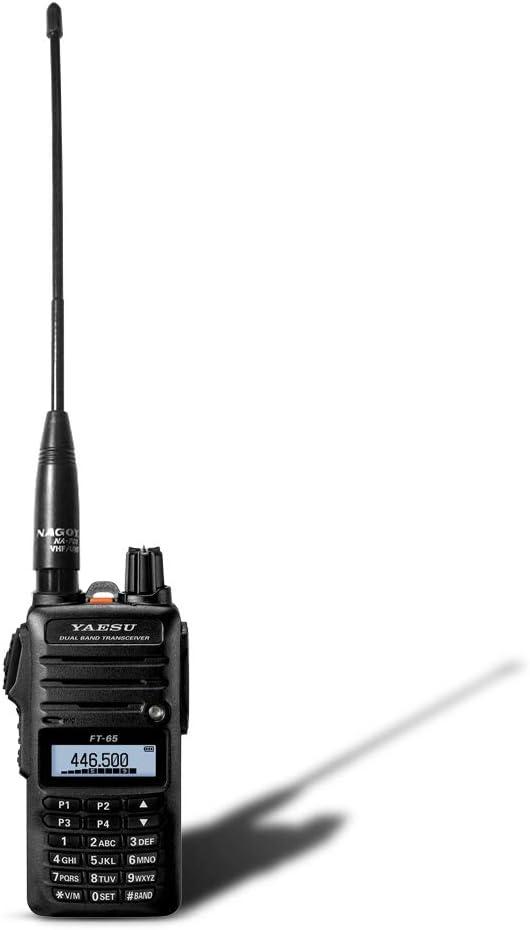 144//430Mhz Nagoya NA-701 SMA-Male 8-Inch Whip VHF//UHF Vertex Antenna for YAESU and Wouxun Radios TYT