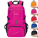 ZOMAKE Ultra Lightweight Hiking Backpack, 35L Foldable Water Resistant Travel Daypack Packable Backpack Outdoor Camping(Pink) Review