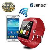Yuntab Bluetooth Smart Jogging Watch U8, Sport Wrist Watch Uwatch Fit for iPhone Samsung HTC Sony, Red