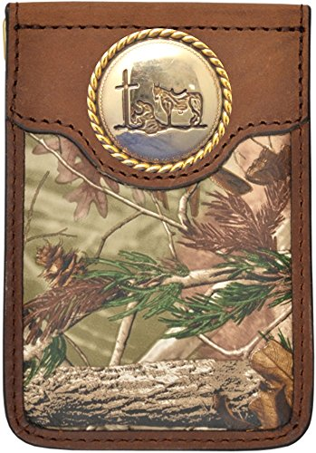 Custom Badger Praying Cowboy Church Realtree AP Camo Money Clip by Genuine Texas Brand