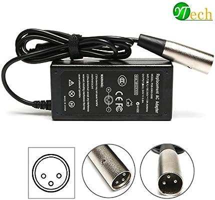 Amazon.com: ytech 36 W 24 V 0.6 A 3 Clavijas Inline Nueva ...