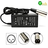 YTech 36W 24V 0.6A 3-Prong Inline New Electric Bike Charger/Power Supply Adapter For eZip 4.0, eZip 400, eZip 500, eZip 750, eZip 900