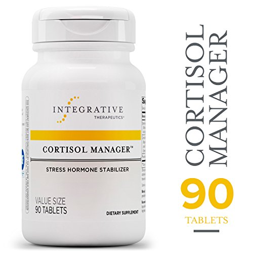 Cortisol Manager - Integrative Therapeutics - Sleep, Stress, and Cortisol Support Supplement* with Ashwagandha, Magnolia, and L-Theanine - Support Adrenal Health* - Vegan - 90 Tablets (Feeling Tired All The Time And No Energy)