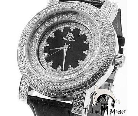 Techno Master Mens Diamond Watch .12ct TM-2141-B