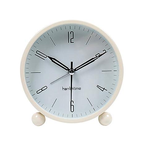 LQUIDE Family Fireplace Clocks Retro Desktop Watch, Small Alarm Clock ñ or Next to The