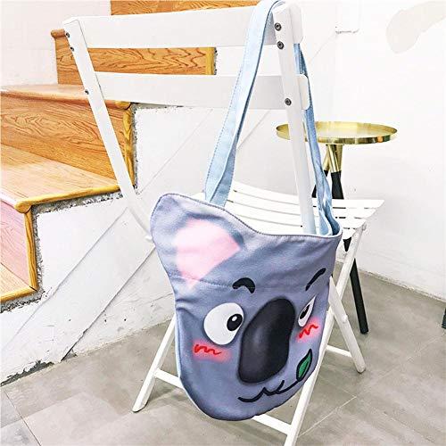 canapa delle di Borsa Totes capacità fumetto di donne stampata di di acquisto grande C borsa a della tela tracolla animale del xn0w4trwI
