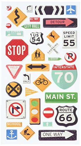 Sticko 52-45045 Road Signs Stickers, Multicolor