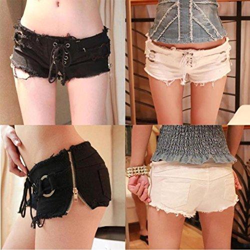 Basse Shorts Pantalon Sexy Mini Denim Femmes Jeans Blanc Court Pantalon Super Taille Winwintom 0qSwnTX