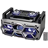 Jensen(R) SMPS-750 Portable Bluetooth(R) All-in-One Hi-Fi Music System with PA