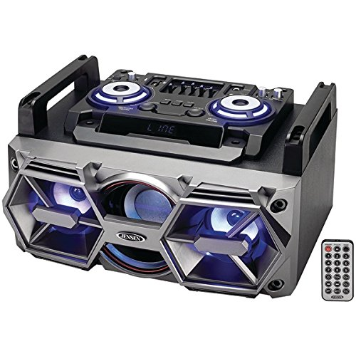 Jensen(R) SMPS-750 Portable Bluetooth(R) All-in-One Hi-Fi Music System with PA by Jensen
