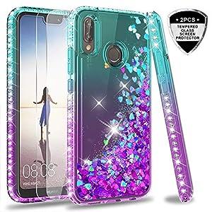 LeYi Custodia Huawei P20 Lite Glitter Cover con Vetro Temperato [2 ...