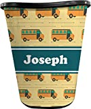 RNK Shops School Bus Waste Basket - Single Sided (Black) (Personalized)