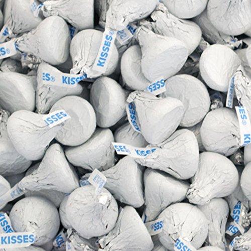 Hersheys Chocolate Kosher - HERSHEY'S Christmas KISSES Chocolate Candy, White Foils, 4.1 Pounds Bulk Candy Gift
