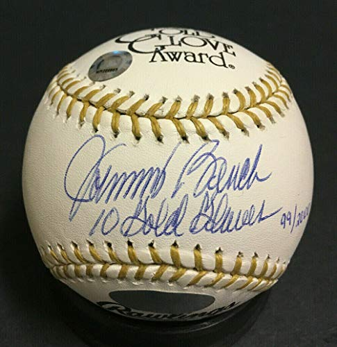 Johnny Bench Autographed Signed Memorabilia Baseball Ins 10 Gold Gloves Autograph Steiner MLB Holo /2000 - Certified Authentic