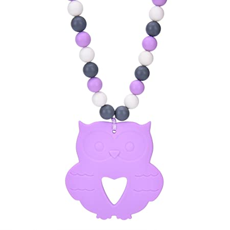 Waterstone Silicone Teething Necklace Bpa Free Beads To Chew Smart