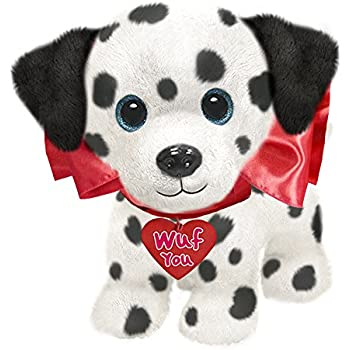 bdfa291c636d First & Main Dog Plush Valentine's Day Wuffles, Dalmation Stuffed Animal,  ...