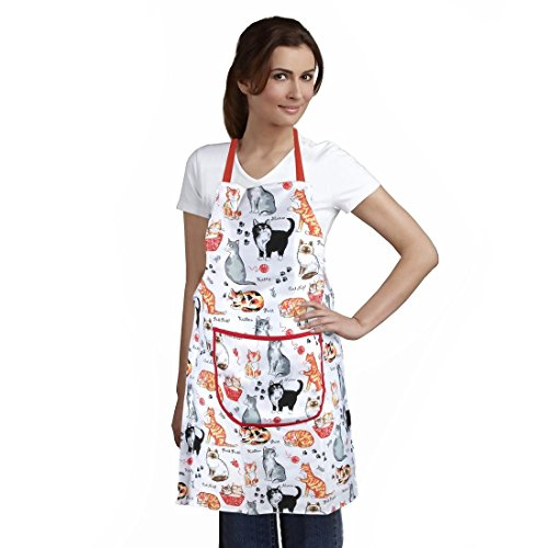 Home-X Cat Print Apron (Gifts Cat Persian)