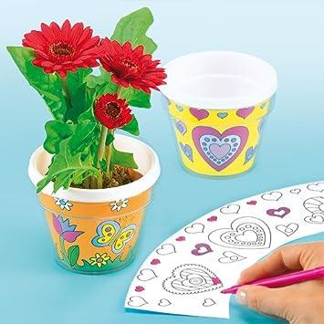 Blanko Blumentopfe Aus Plastik Zum Basteln Und Bemalen Fur Kinder