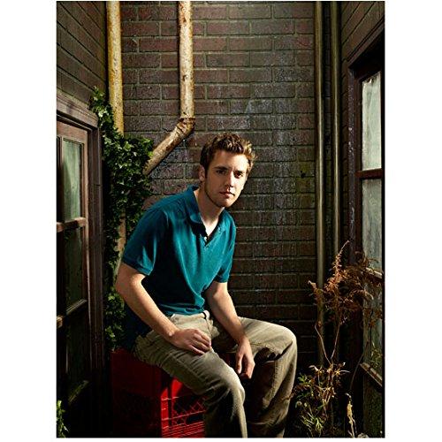 (Reaper 8x10 Photo Bret Harrison Blue Polo Shirt Khaki Pants Sitting on Red Crate kn )