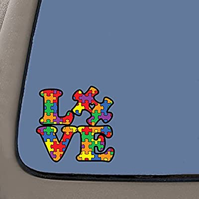 NI284 Autism Awareness Puzzle Piece Car Decal Sticker   Premium Quality Vinyl Sticker   5-Inches X 5-Inches: Automotive