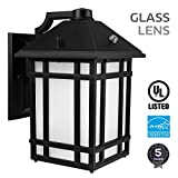Dusk to Dawn Photocell DetectorWith built-in high sensitive smart photocell, the LED outdoor wall lantern is able to automatically turn on when surroundings get dark and off when dawn breaks. Highly convenient with no more manual operations r...