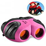 TOP Toy 3-12 Year Old Girl Gifts, Shock Proof Compact Binoculars for Kids Toys for 3-12 Year Old Boys Toys for 3-12 Year Old Girls 2018 2018 Chritmas new gifts Pink TTUKTT10