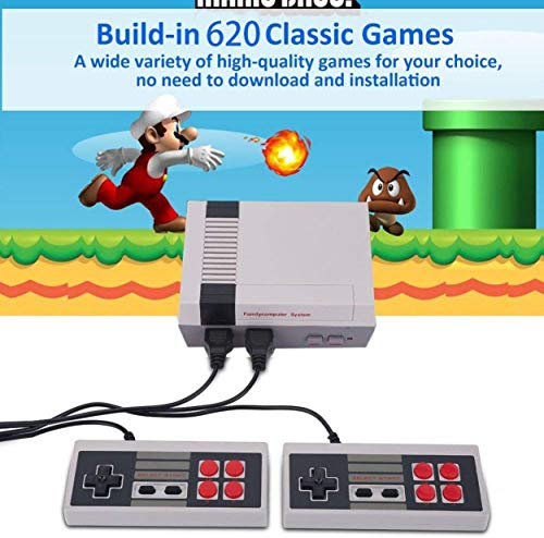 Classic Mini Game Consoles Classic Game Consoles Built-in 620 Games Video Games Handheld Game Player,AV Output,8-Bit,Bring you happy childhood memories