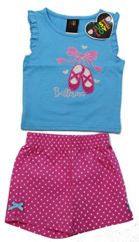 4005-4T Just Love Two Piece Girls Shorts Set - Cute Outfits For Teenage Girls
